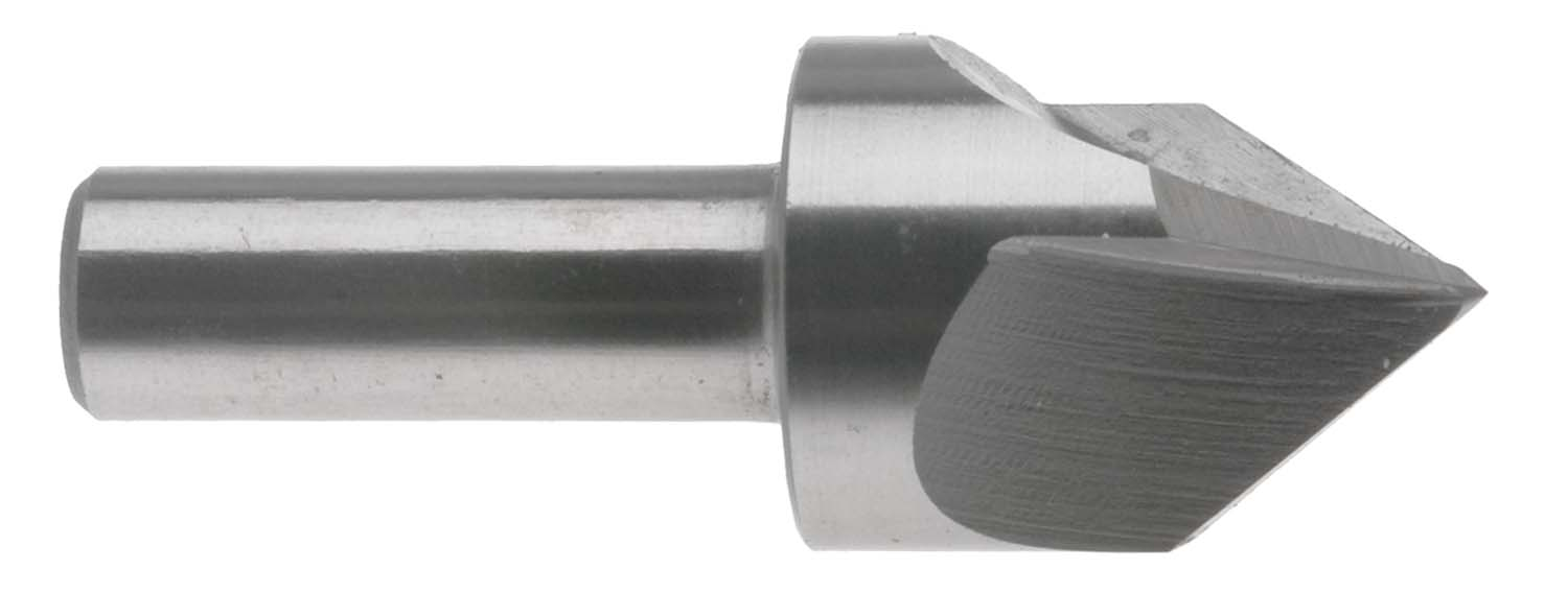 "1"" 90 Degree 3 Flute Countersink /Center Reamer, 1/2"" Shank, High Speed Steel"