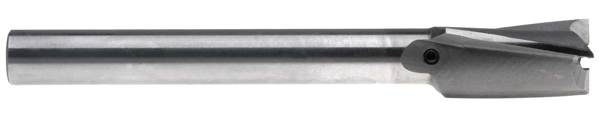 "21/32"" Straight Shank Counterbore, Interchangeable Pilot Type, High Speed Steel"