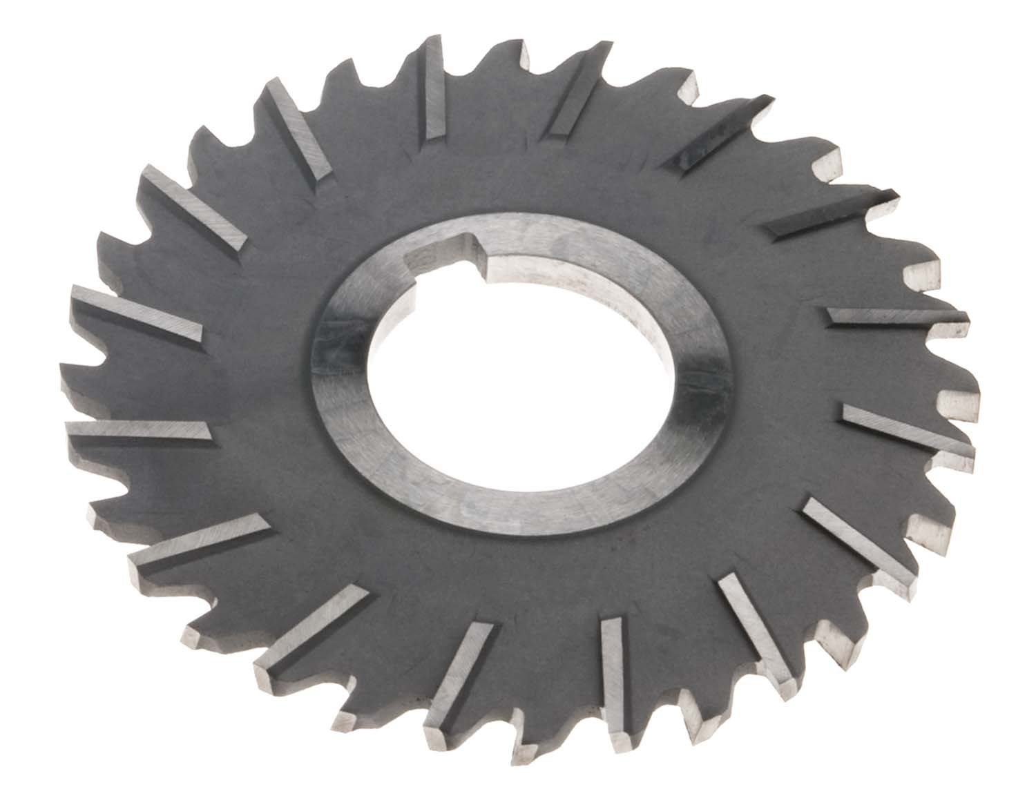 "4"" OD x 1/4 "" Thick x 1"" ID Staggered Tooth Slitting Saw, High Speed Steel"