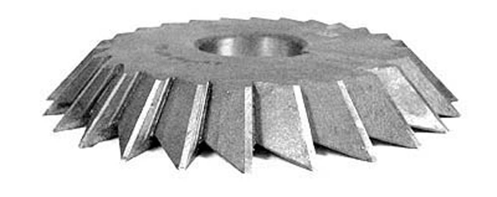 "4 X 3/4 X 1-1/4""  Left Hand 45 Degree Single Angle Cutter, High Speed Steel"