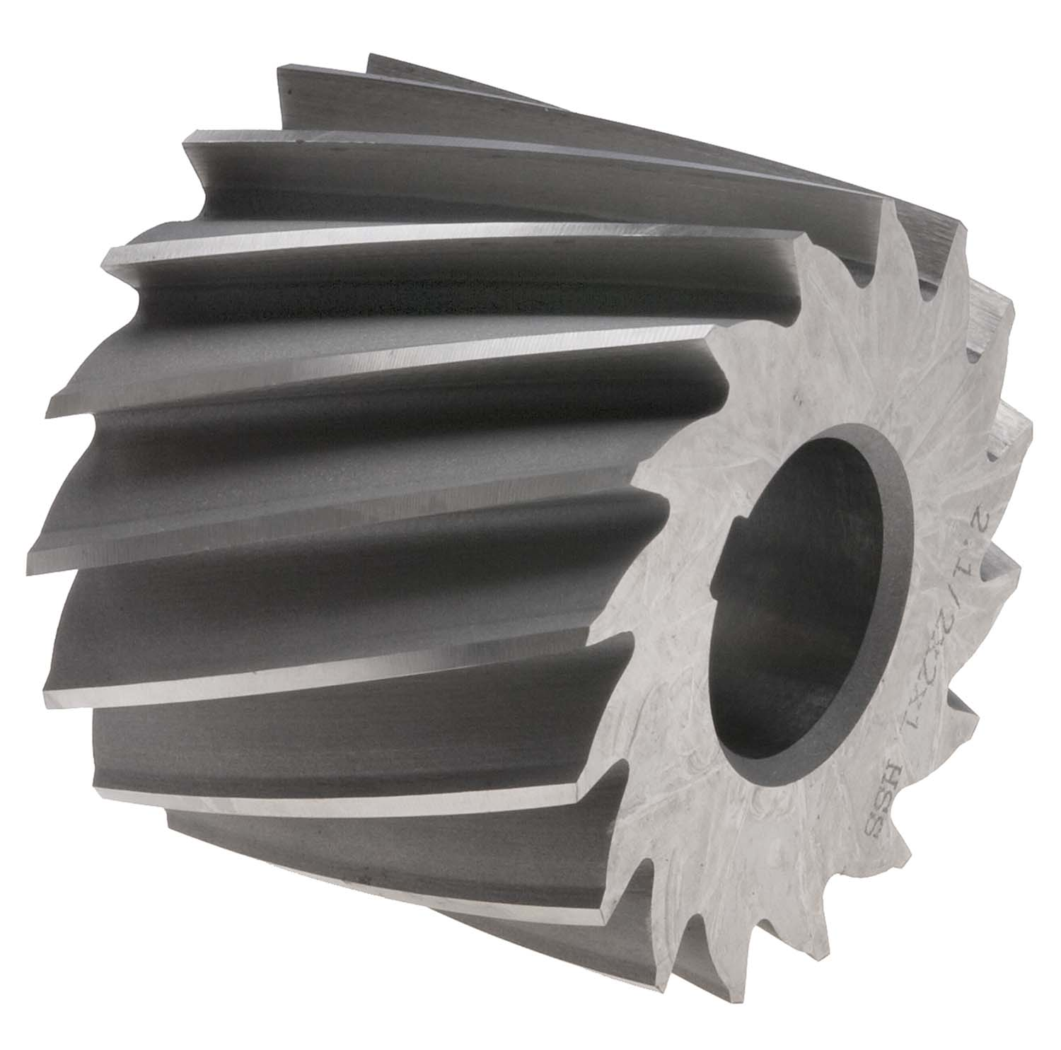 2-1/2 X 3/16 X 1 Plain Milling Cutter, High Speed Steel