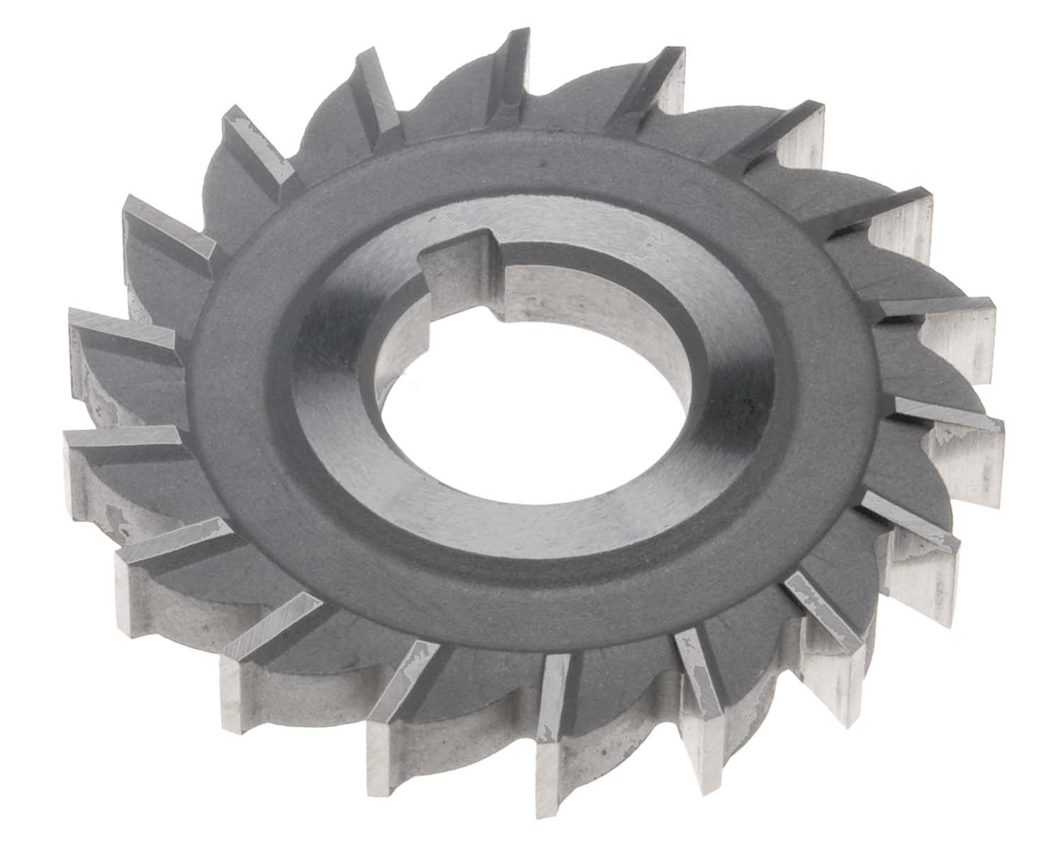 "4 x 1/2 x 1-1/4"" Side Tooth Milling Cutter, High Speed Steel"