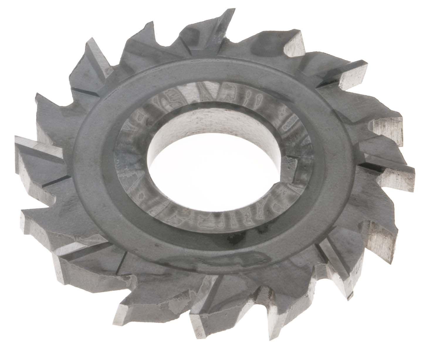 "3-1/2 X 1/2 X 1"" Staggered Tooth Side Milling Cutter, High Speed Steel"