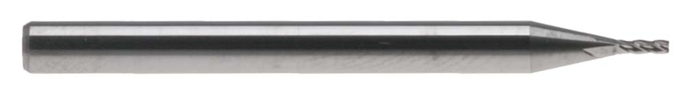 """.015"""" 4 Flute 1/8"""" Shank Mini Carbide End Mill - Made in USA"""