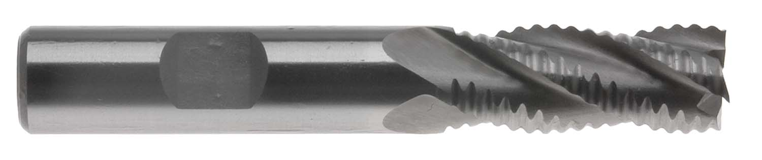 "EM-ALR12 3/8"" M2-AL High Speed Steel Roughing End Mill"