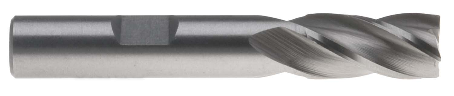 "EM-MF2  2mm Single End 4 Flute End Mill - 3/8"" Shank, High Speed Steel"