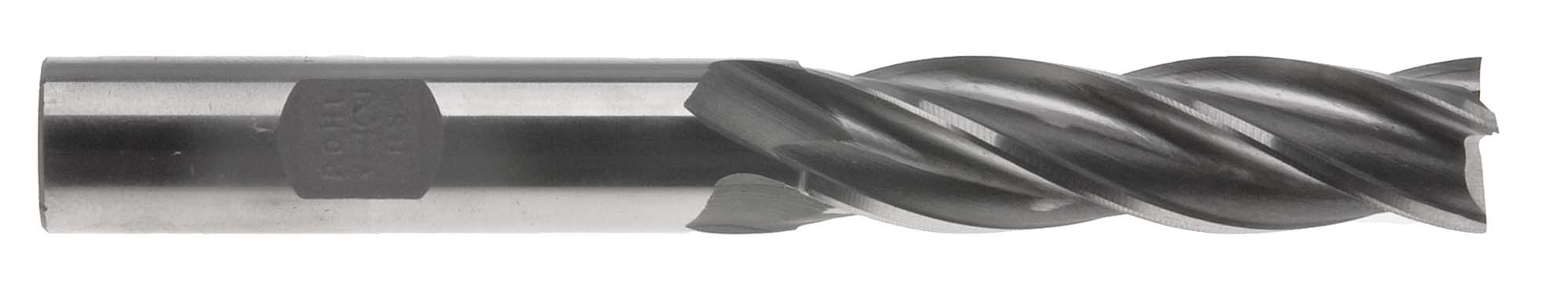 "EM-FL16  1/2"" 4 Flute Long End Mill - 1/2"" Shank, High Speed Steel"