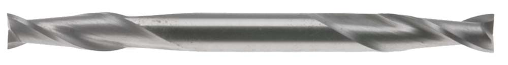 "EM-CS6, 3/16"" 2 Flute Double End Mill, 3/16"" Shank, High Speed Steel"
