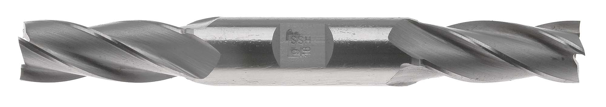 "EM-B10  5/16"" Double End 4 Flute End Mill, High Speed Steel, 3/8"" Shank"
