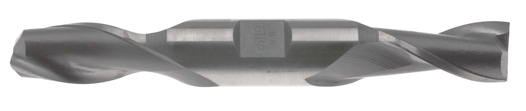 "EM-C15  15/32"" Double End 2 Flute End Mill, High Speed Steel,  1/2"" Shank"