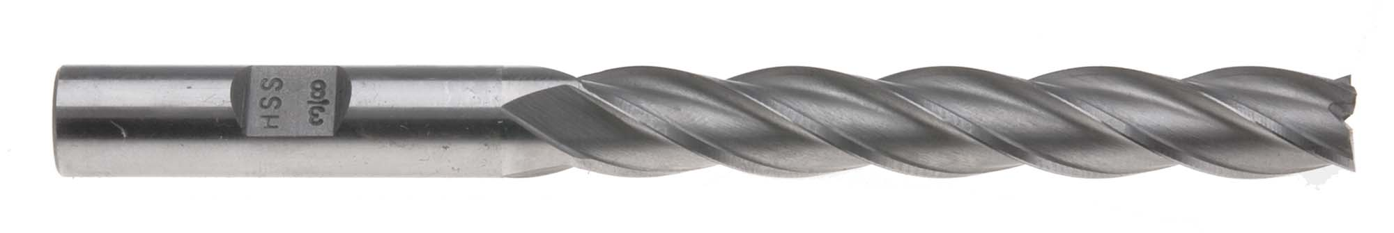 "5/8"" 4 Flute Extra Long Center Cut End Mill - 5/8"" Shank, High Speed Steel"
