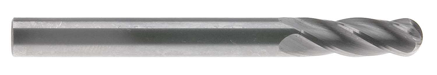 "E705-3/32  3/32"" 4 Flute Single End Ball USA Carbide End Mill"