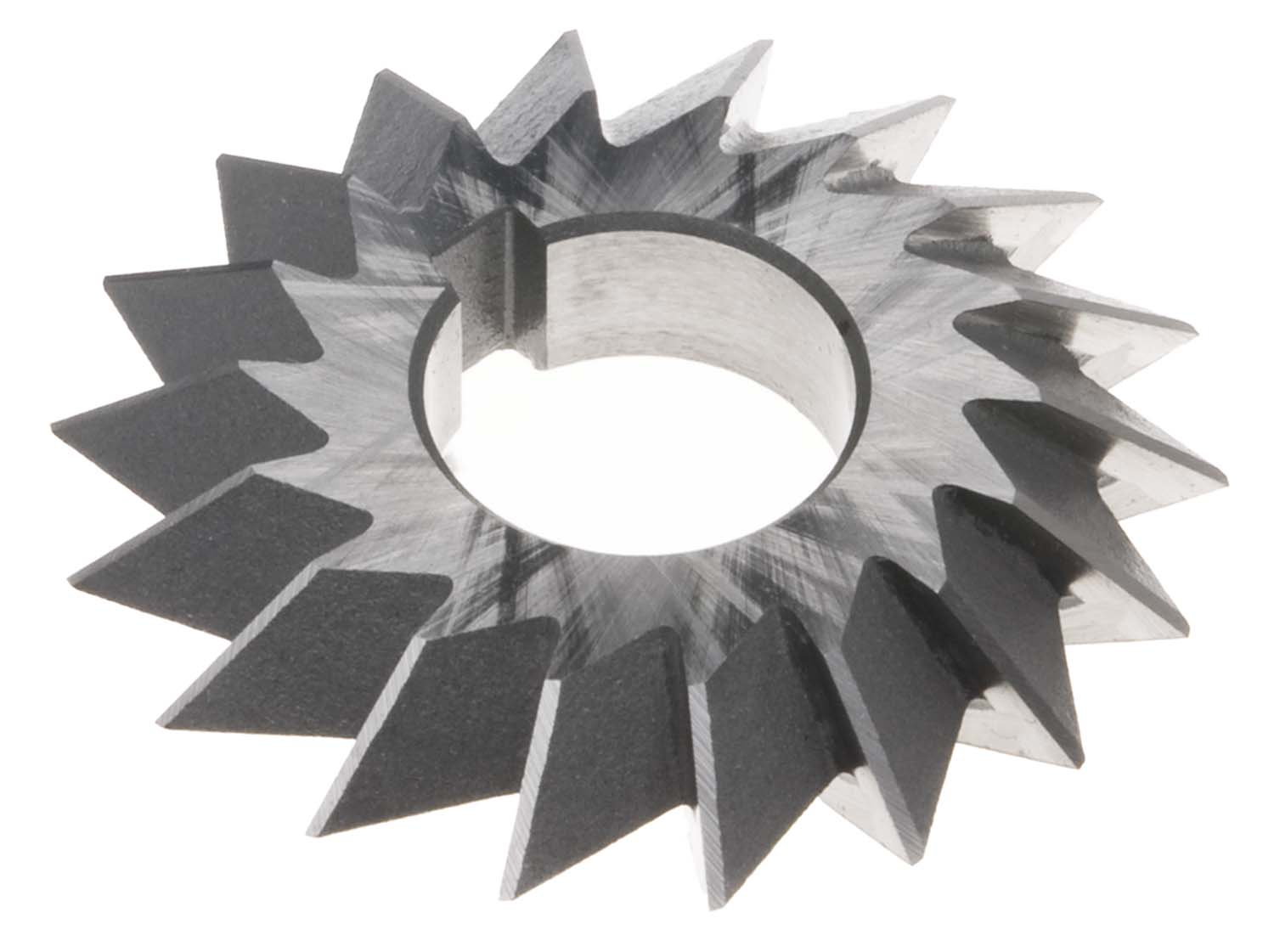 "6 X 1-1/2 X 1-1/4"" 60 Degree Double Angle Cutter, High Speed Steel"