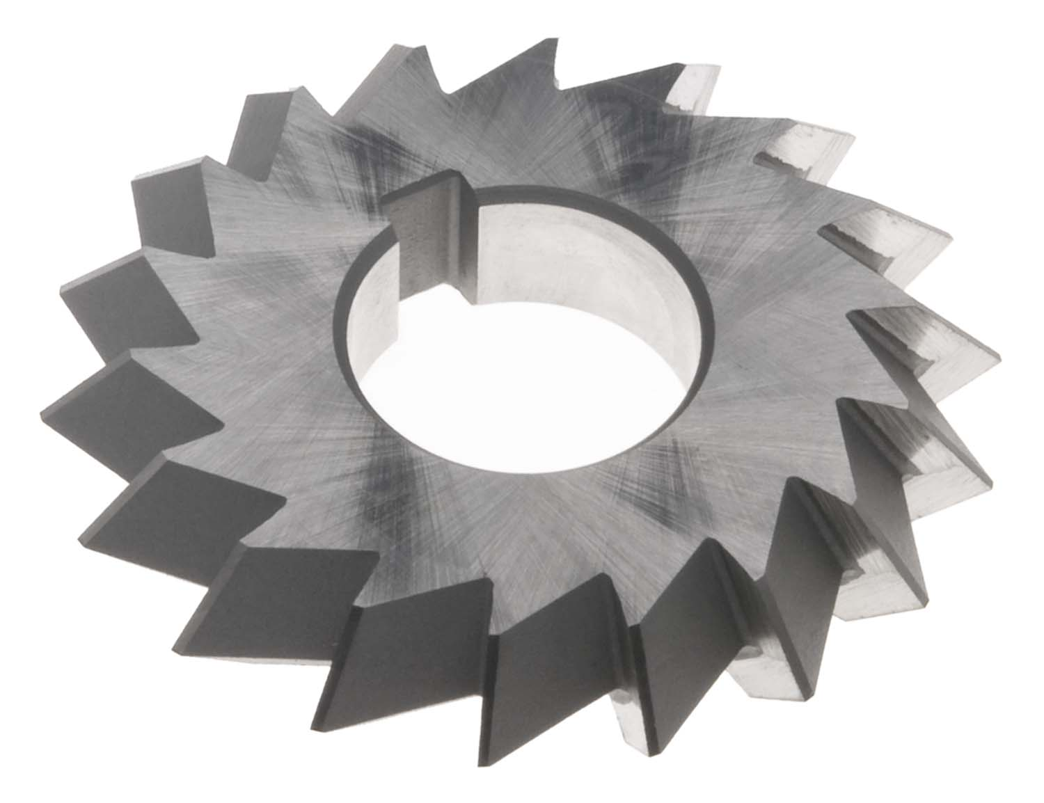 "4 X 3/4 X 1"" 90 Degree Double Angle Cutter, High Speed Steel"