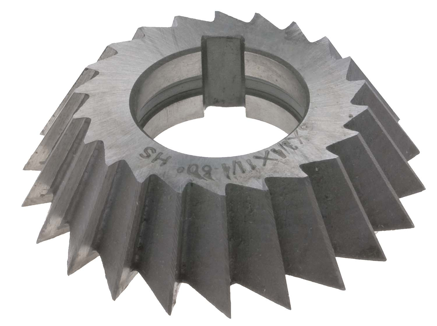 "5 X 3/4 X 1-1/4""  Left Hand 60 Degree Single Angle Cutter, High Speed Steel"