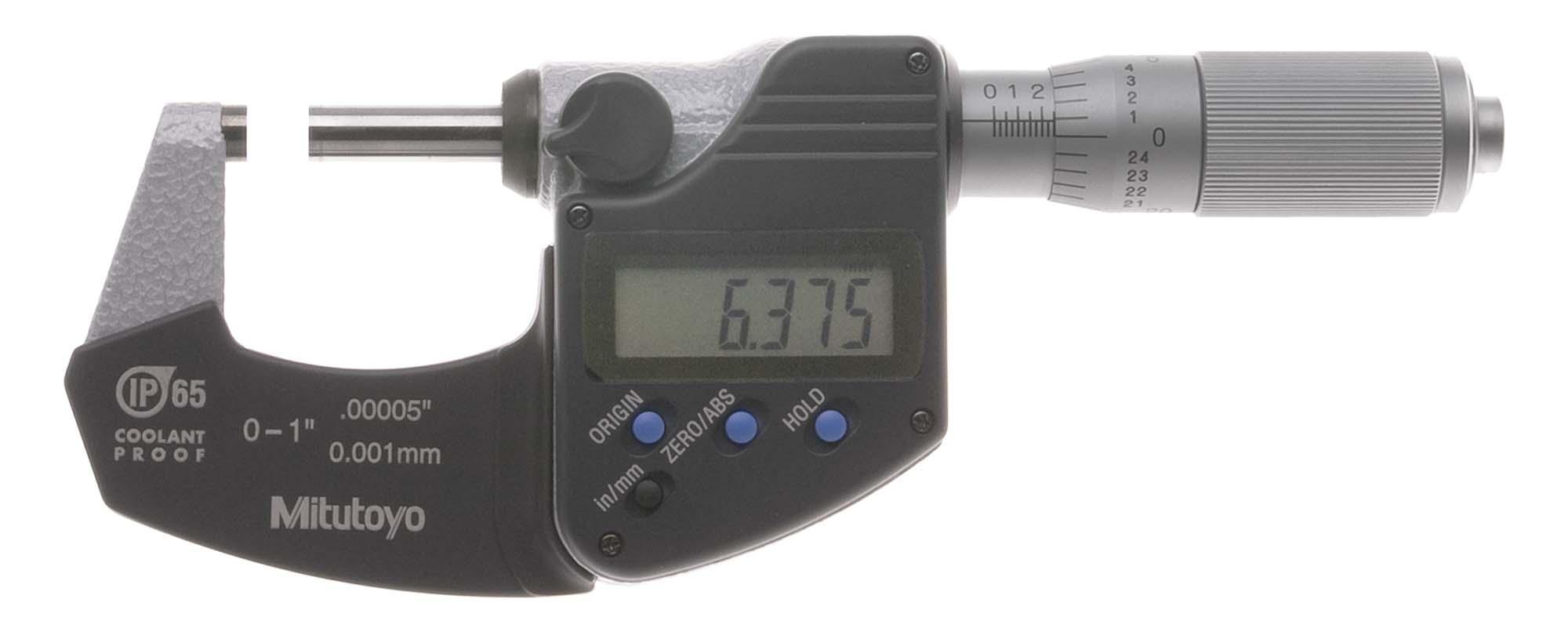 Mitutoyo 293-831 Slim LCD Electronic Micrometer