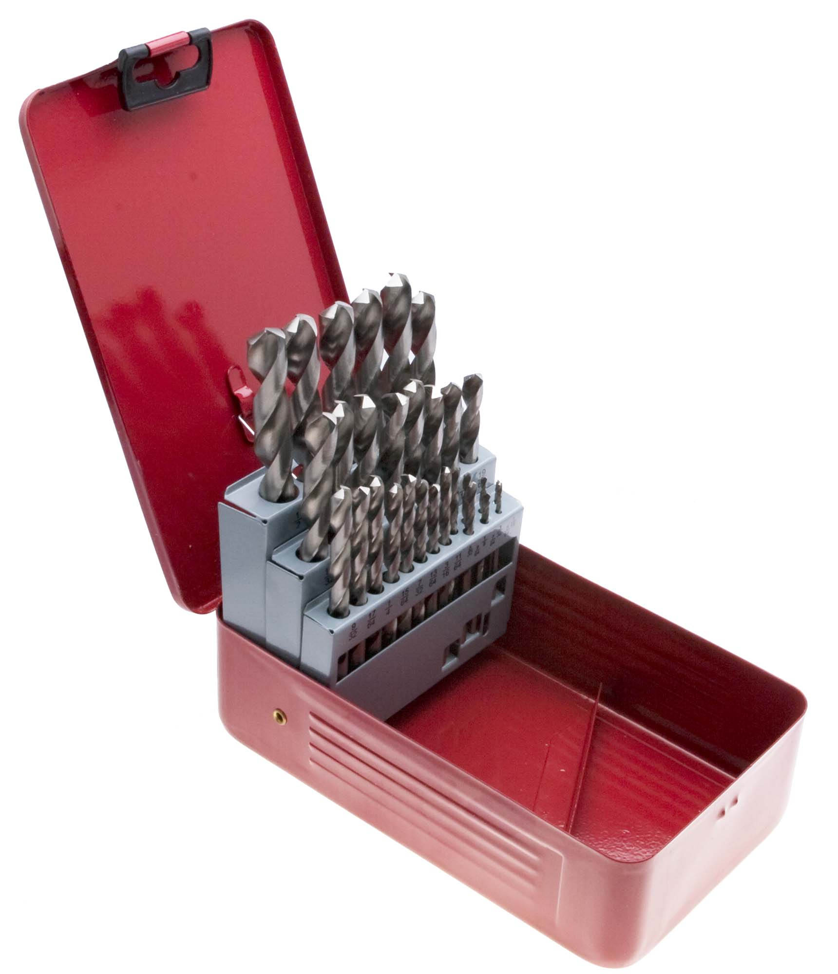 A-Z High Speed Steel Brite Drill Set in Metal Case, 26 bits