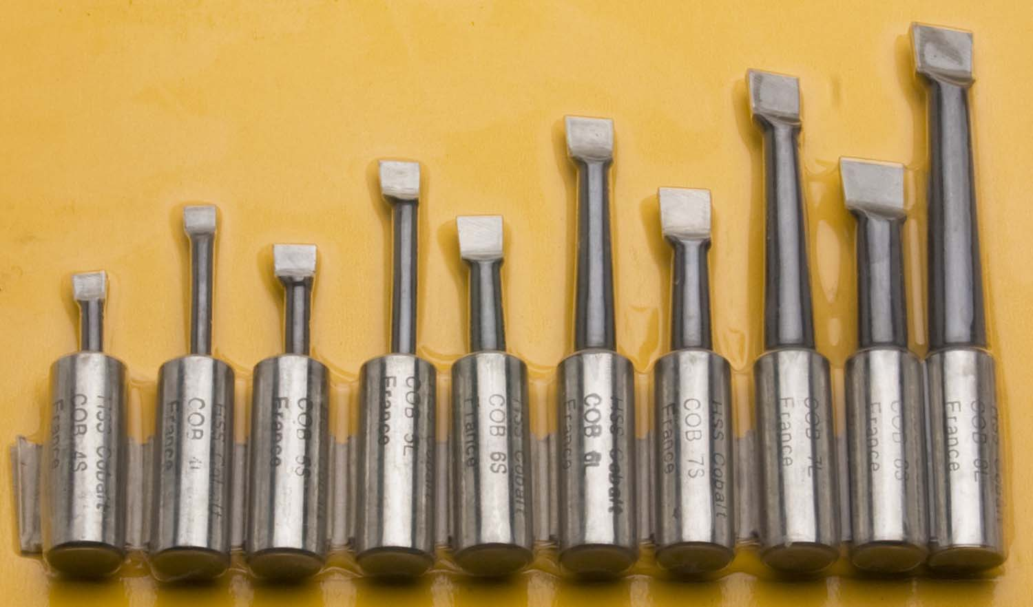 "10 Piece, 5/8"" Cobalt Boring Bar Set"
