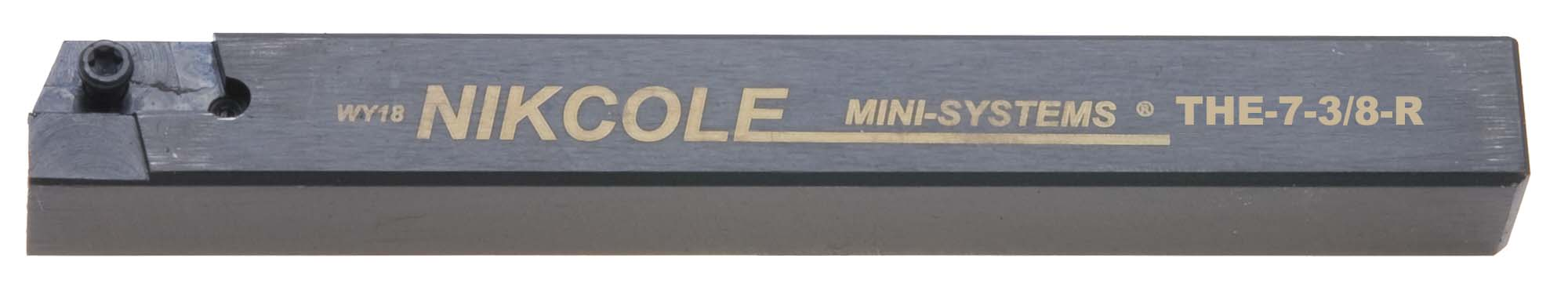 "Nikcole THE-7-3/8-R .375"" Sq. RH Mini-System Tool Holder"