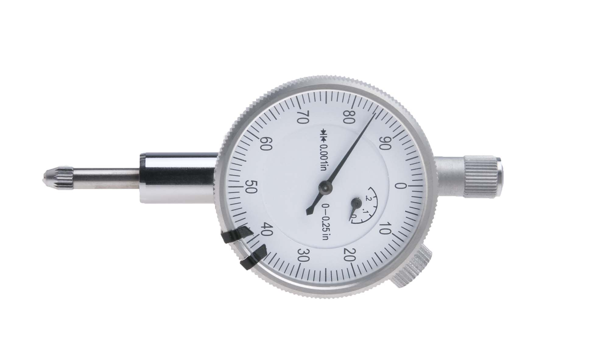 "VDI-250  .250"" Dial Indicator, 1.6"" Diameter Face, reads .001"""