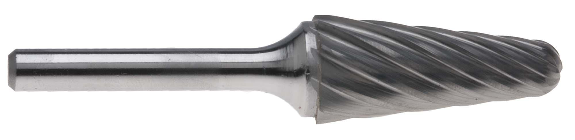 "3/4"" Style L Taper Shape with Radius End 1/4"" Shank Carbide Burr for Aluminum SL-7AL"