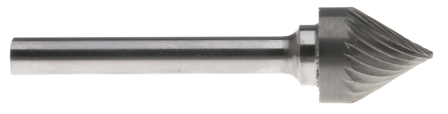 "5/8"" Style J 60 degree Cone Shape 1/4"" Shank Single Cut Carbide Burr  SJ-6"