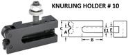 Style 10 Quick Change Tool Holders for Knurling