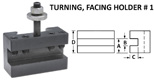 Style 1 Quick Change Tool Holders for Turning and Facing